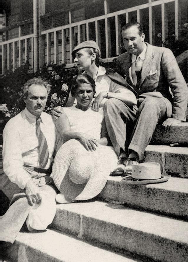 Waldo Frank, María Rosa Oliver, Victoria Ocampo, Eduardo Mallea